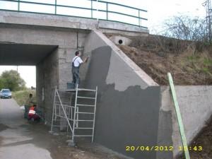 TESAN sanace železničního  mostu 3
