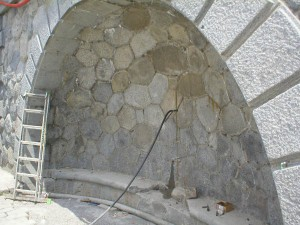 cementová injektáž na pražské náplavce
