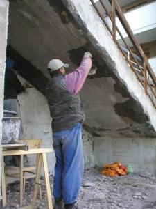 nanaseni vrstev sanacniho betonu